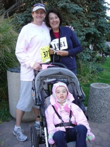 Me, Mom and Little Miss at the Race for the Cure
