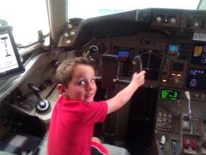 driving a plane